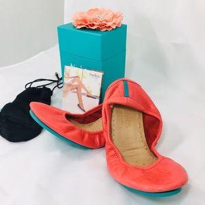 Tieks Shoes Tangerine with box Sz. 5